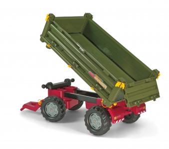 Anhänger für Tretfahrzeug rolly Multi Trailer grün - Rolly Toys Bild 2