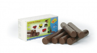 Ladegut für Anhänger - 6 Rundhölzer aus Kunststoff - Rolly Toys