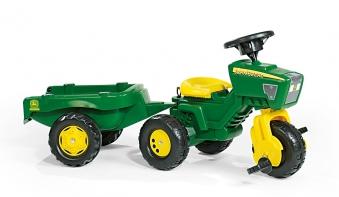 Trettraktor Rolly Trac John Deere mit Anhänger - Rolly Toys Bild 1