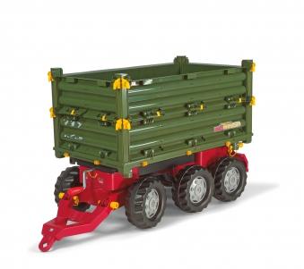 Anhänger für Tretfahrzeuge rolly Multi Trailer grün - Rolly Toys