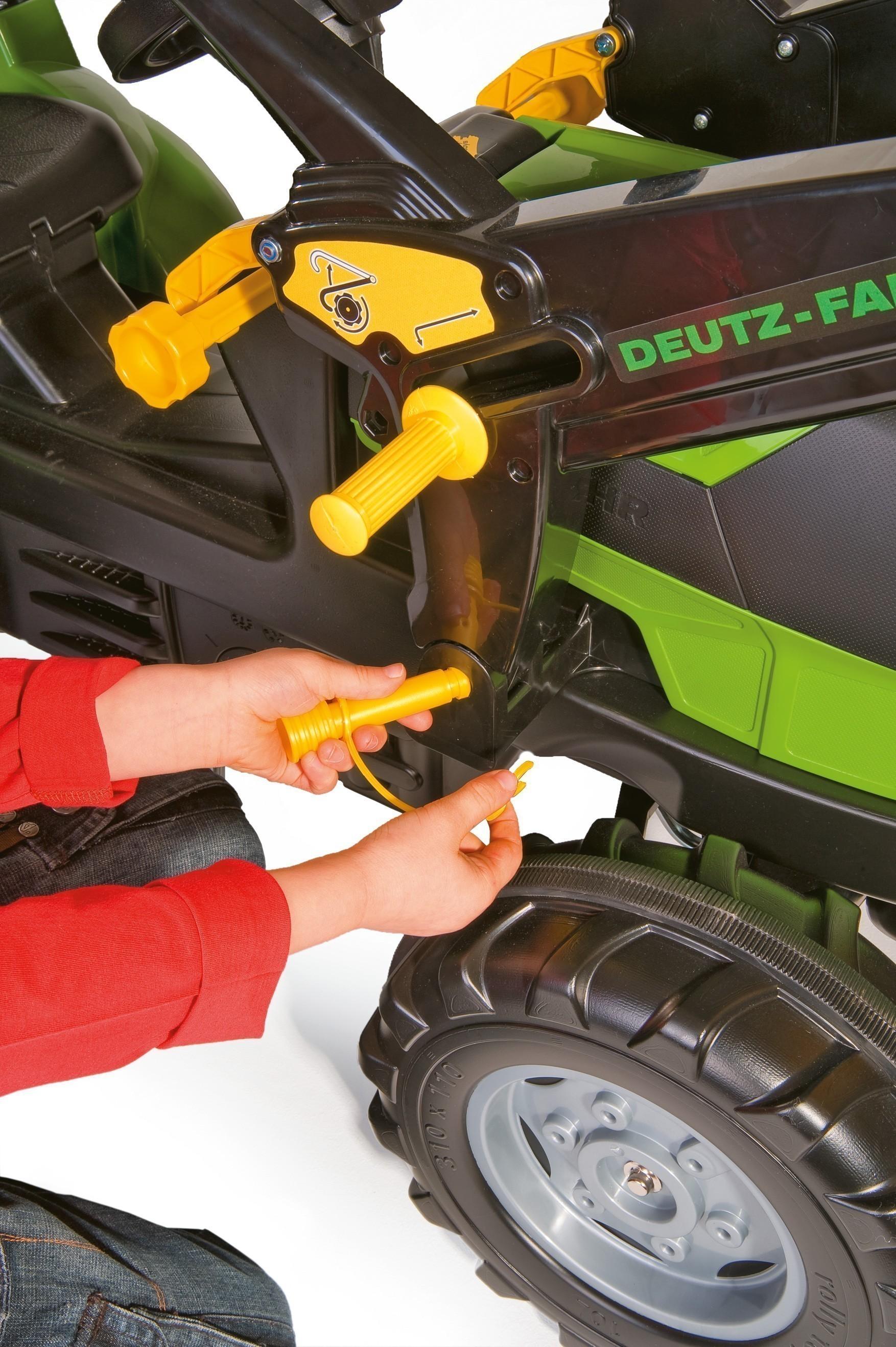 Trettraktor rolly Farmtrac Deutz-Fahr Agrotron Frontlader - Rolly Toys Bild 2
