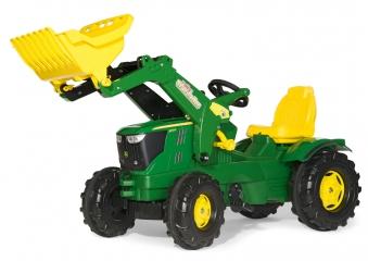 Trettraktor rolly Farmtrac John Deere 6210 R Frontlader - Rolly Toys Bild 1