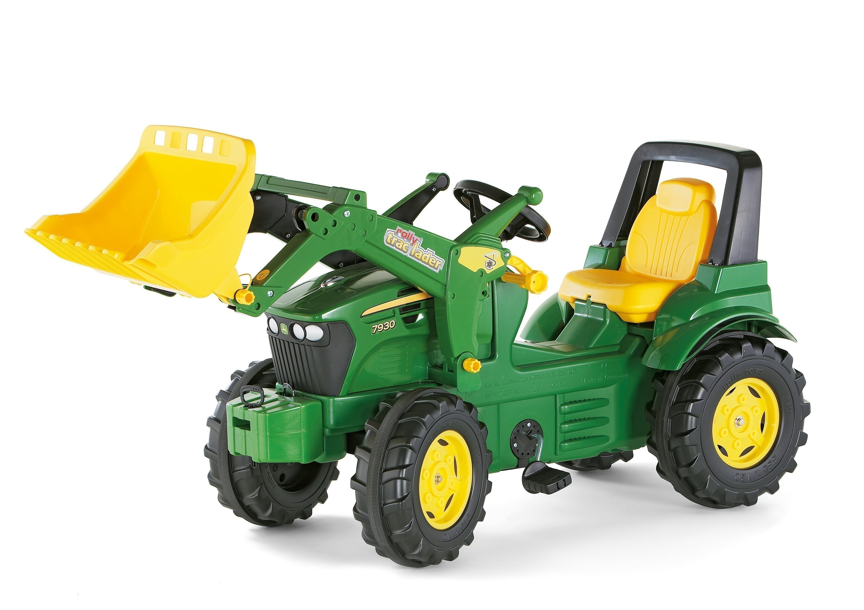 kinderfahrzeug trettraktor john deere 7930 mit frontlader. Black Bedroom Furniture Sets. Home Design Ideas