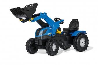 Trettraktor rolly Farmtrac New Holland mit Frontlader - Rolly Toys Bild 1