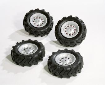 Räder rolly Luftbereifung für Tretfahrzeug 310x95 silber - Rolly Toys
