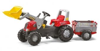 Trettraktor rolly Junior RT mit Frontlader + Anhänger - Rolly Toys Bild 1