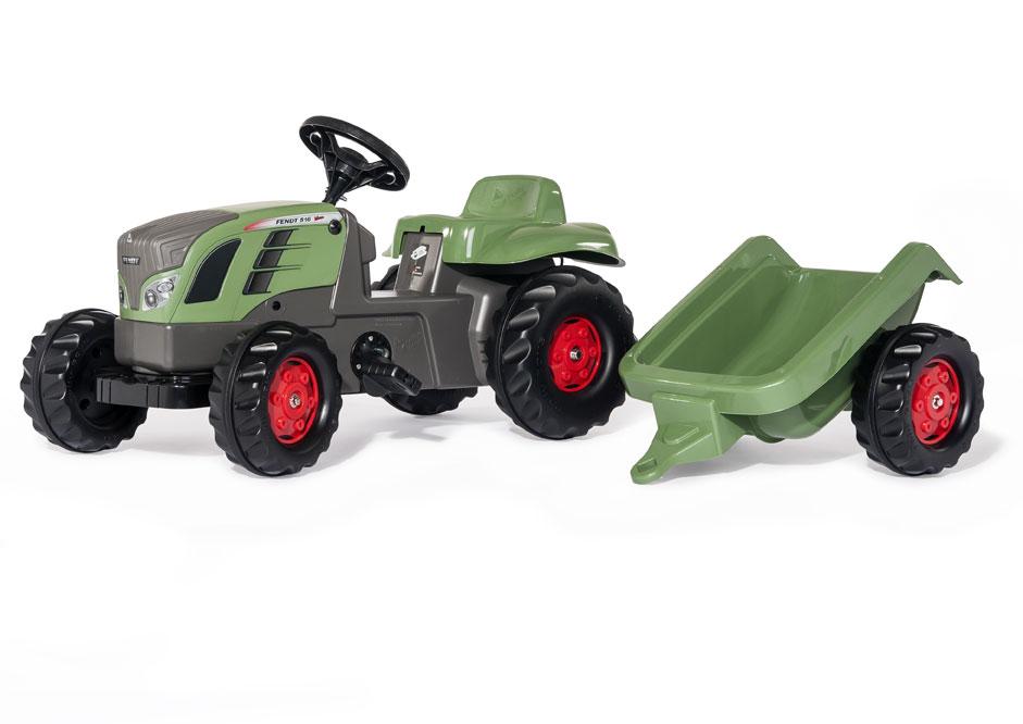 Trettraktor rolly Kid Fendt 516 Vario mit Anhänger - Rolly Toys Bild 1