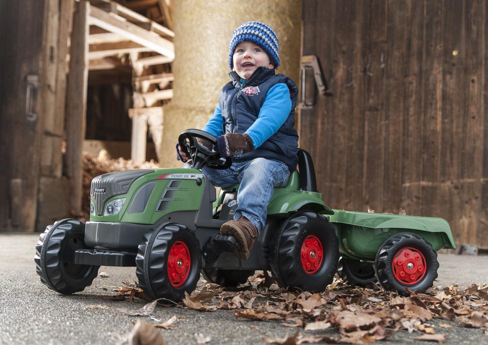 Trettraktor rolly Kid Fendt 516 Vario mit Anhänger - Rolly Toys Bild 3