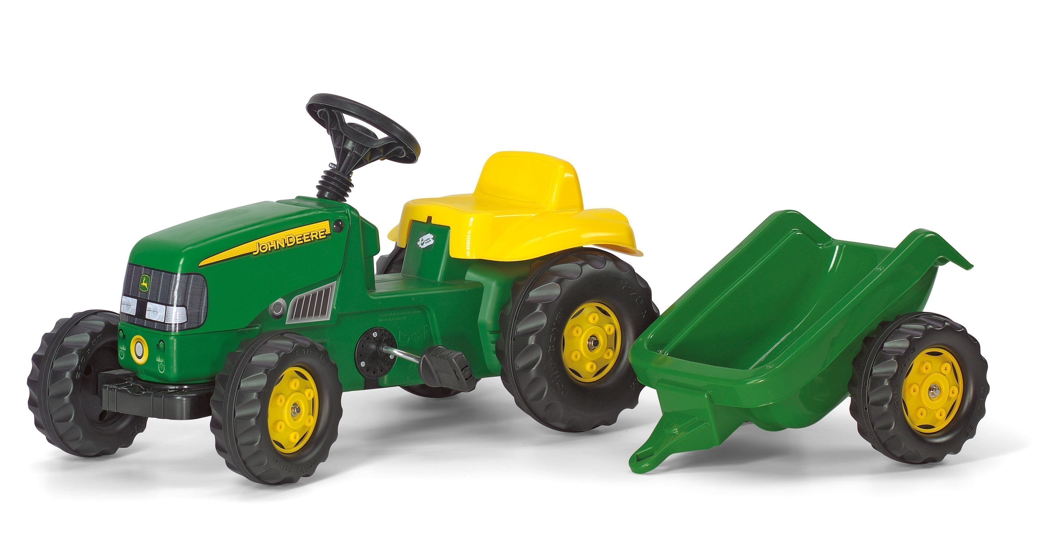 trettraktor rolly kid john deere mit anh nger rolly toys. Black Bedroom Furniture Sets. Home Design Ideas