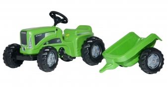 Trettraktor rolly Kiddy Futura + Anhänger grün - Rolly Toys Bild 1