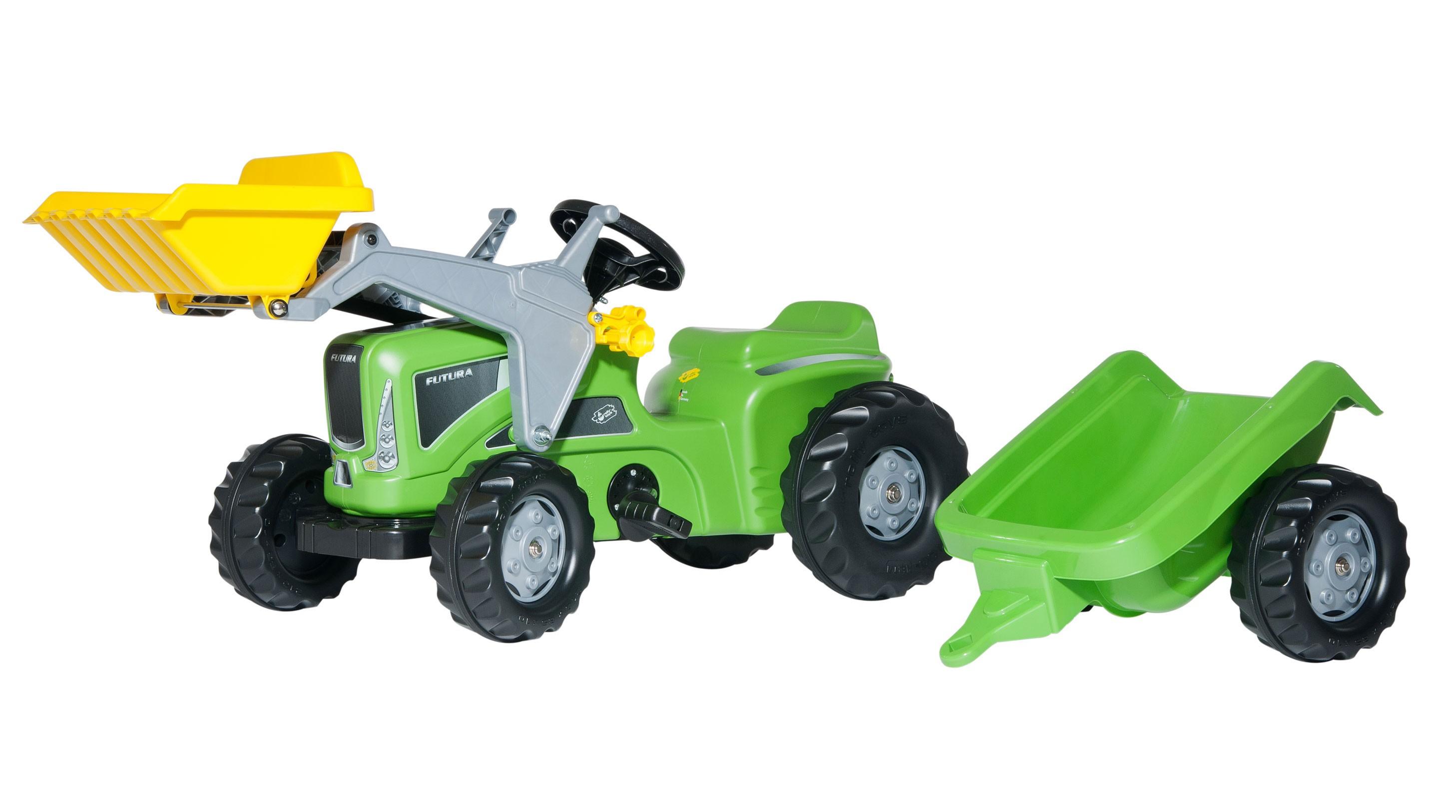 Trettraktor rolly Kiddy Futura mit Frontlader + Anhänger - Rolly Toys Bild 1