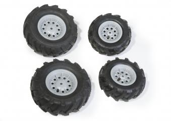 Räder rolly Luftbereifung für Tretfahrzeug 260x95 + 325x110 silber Bild 1