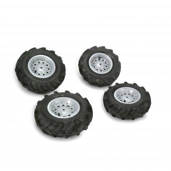 Räder rolly Luftbereifung für Tretfahrzeug 310x95 + 325x110 silber Bild 1