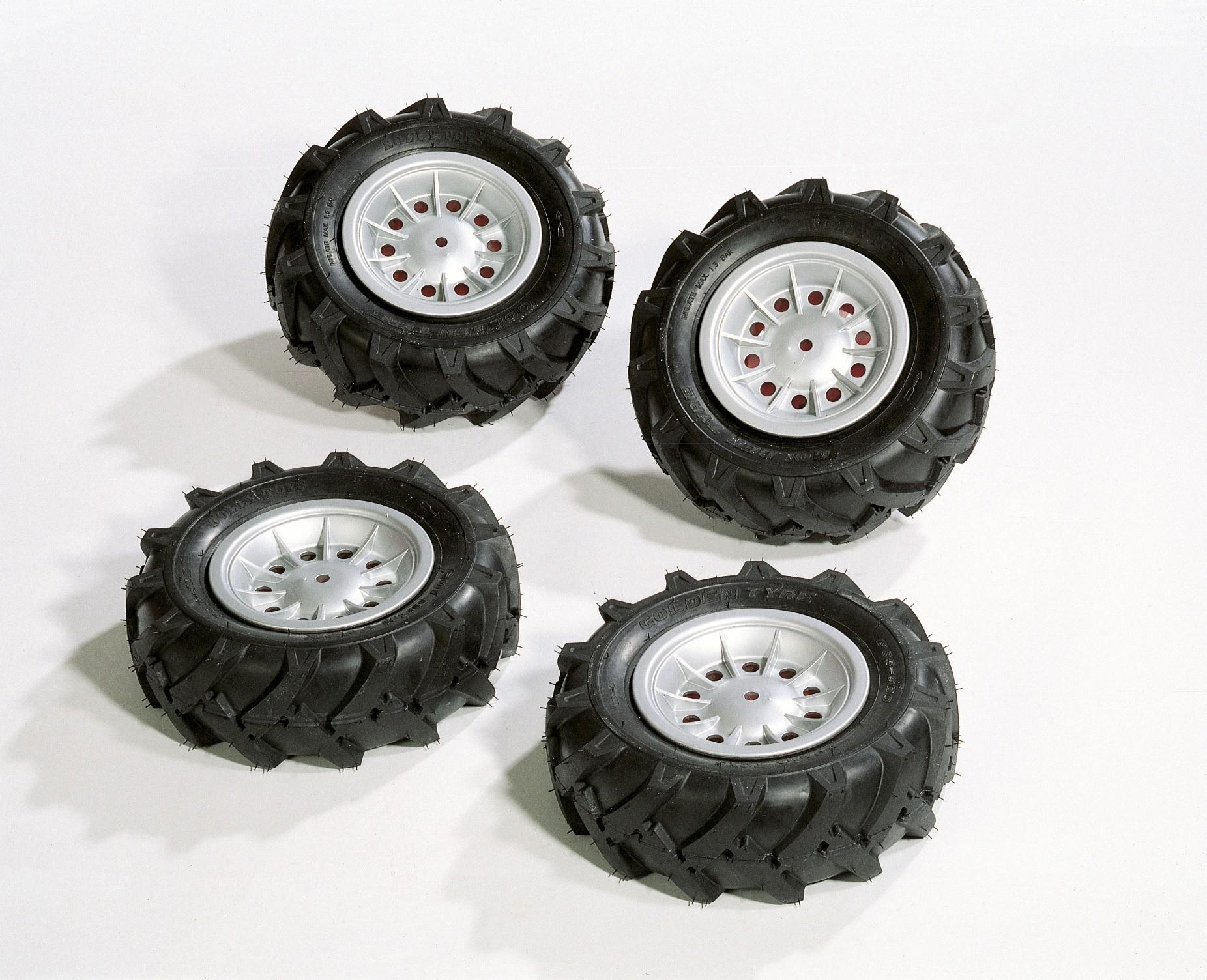 Räder rolly Luftbereifung für Tretfahrzeug 310x95 silber - Rolly Toys Bild 1
