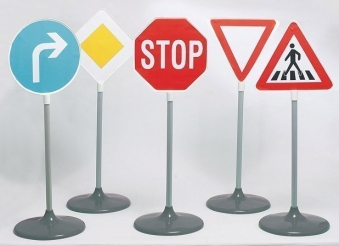 Klein Theo Verkehrsschilder Set A / Verkehrszeichen 5-teilig Bild 1