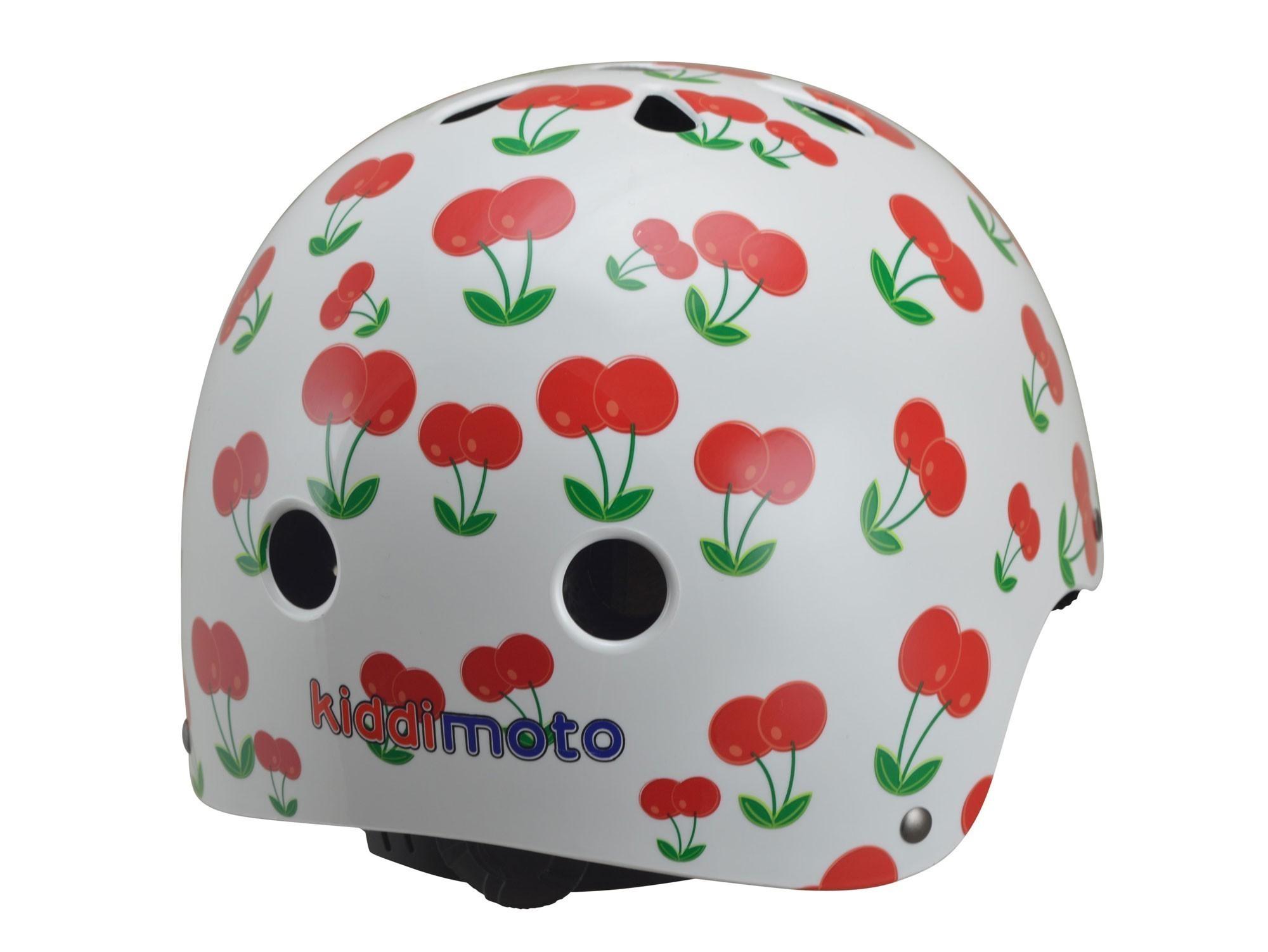 kiddimoto Fahrradhelm / Kinderhelm Größe M Cherry Bild 2