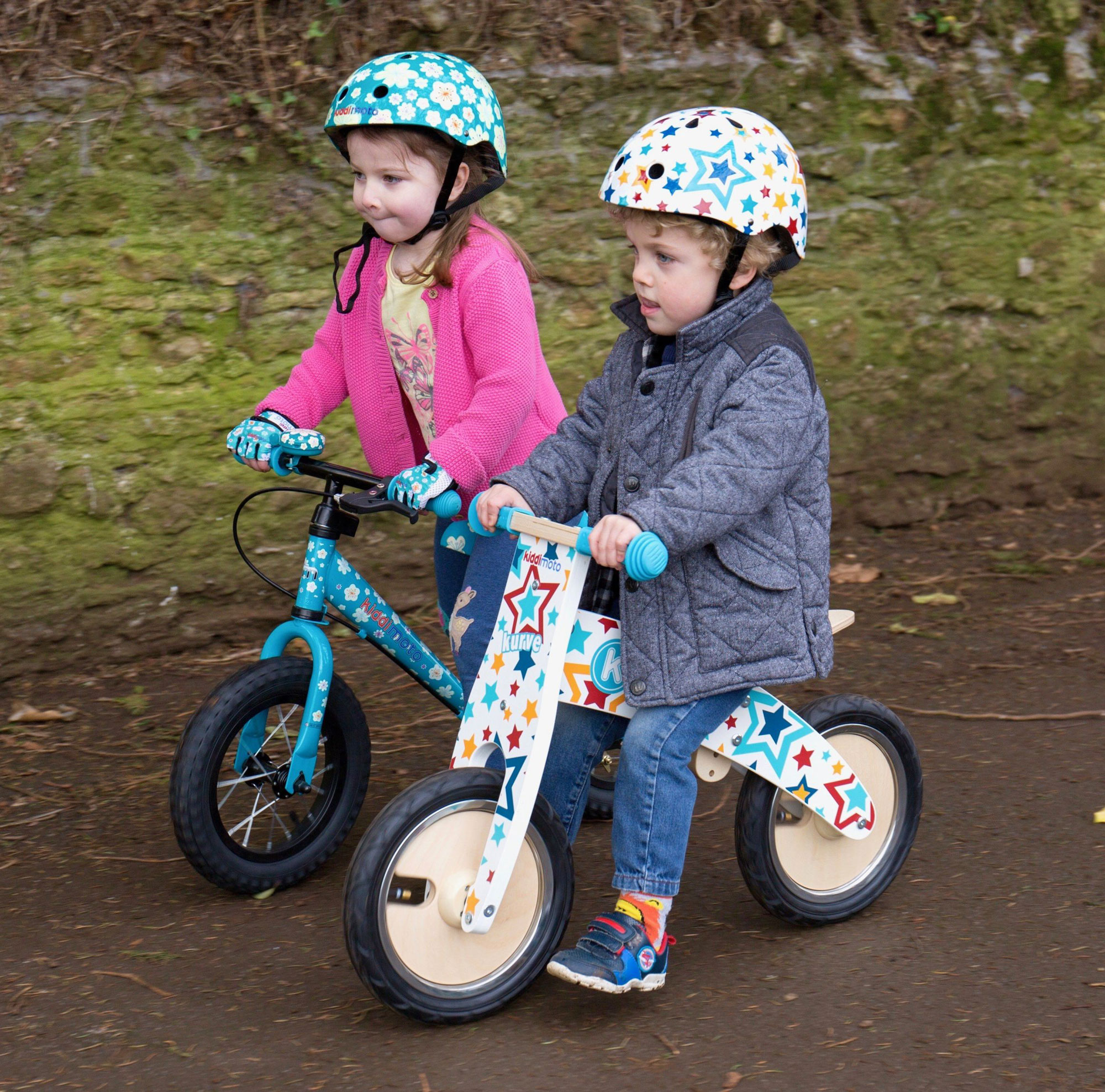 kiddimoto Fahrradhelm / Kinderhelm Größe M Fleur Bild 3