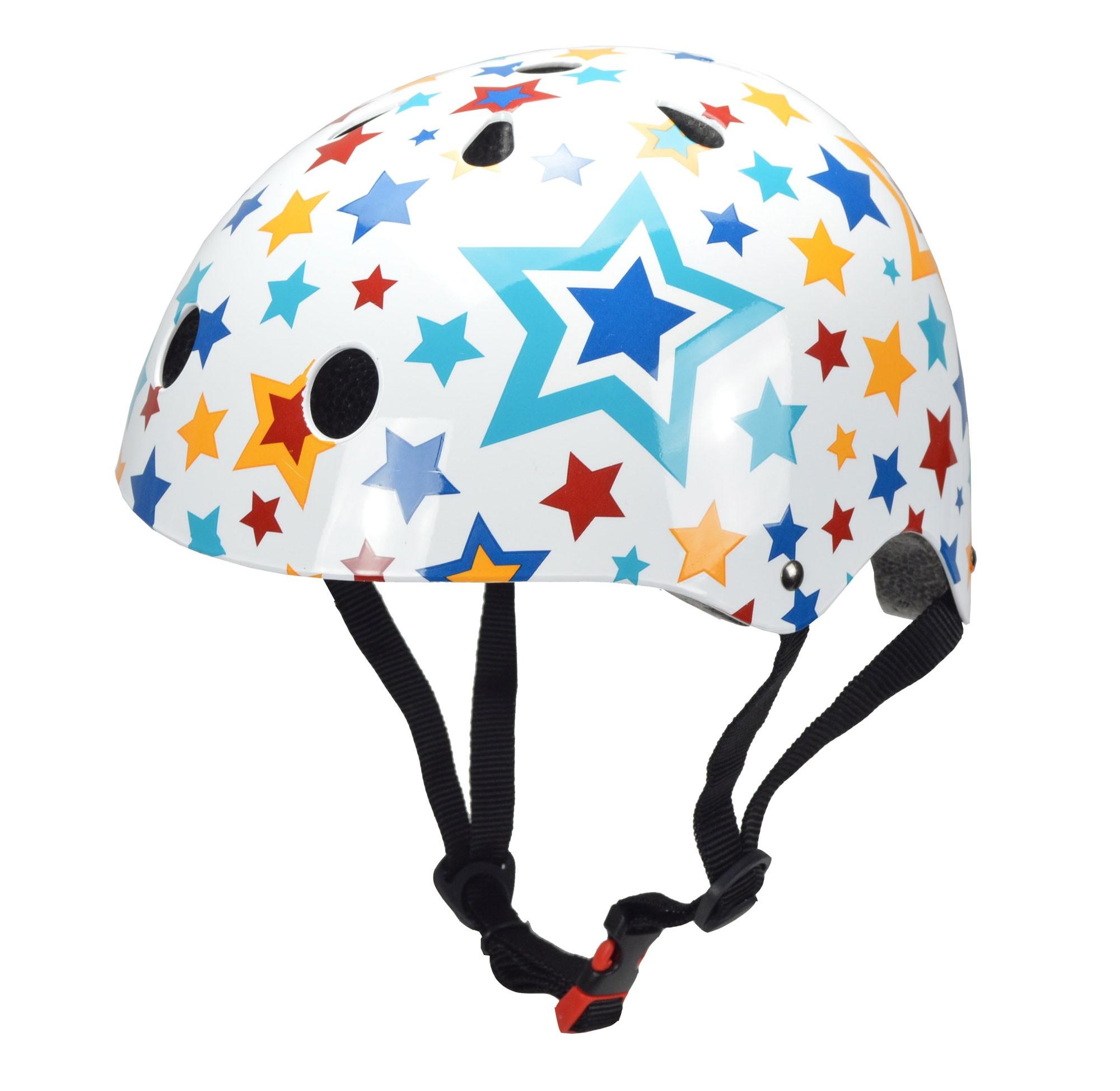 kiddimoto Fahrradhelm / Kinderhelm Größe M Stars Bild 1