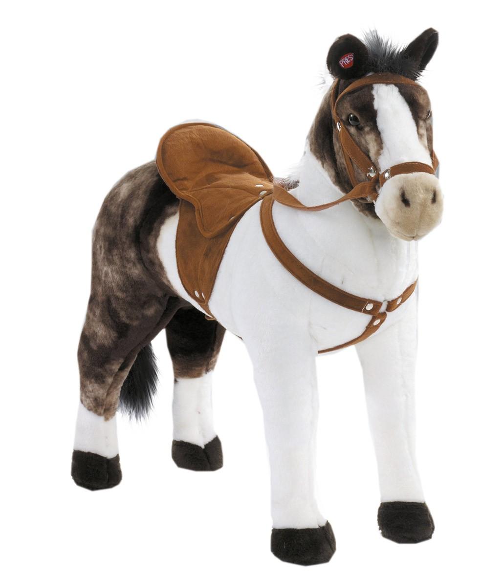 Plüschpferd Schecke Pferd mit Sattel + Sound Happy People 58932 Bild 1