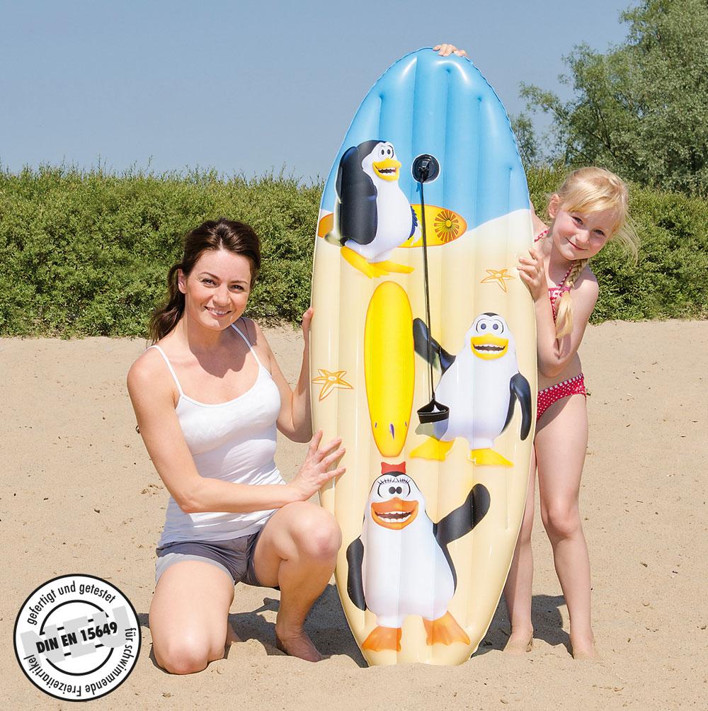 Luftmatratze / Surfboard Happy People Pinguin 145x45cm Bild 1