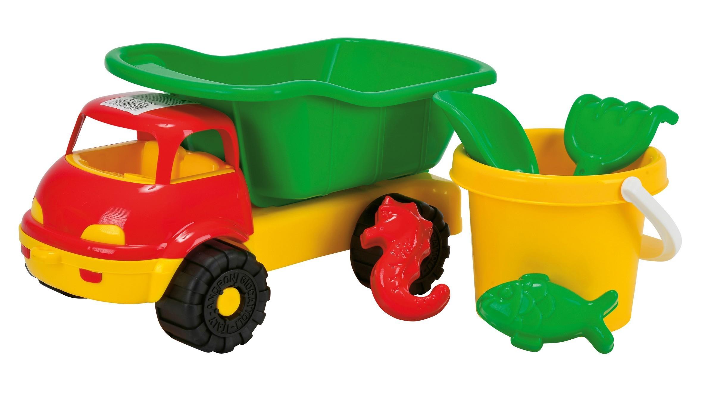 Sandspielzeug LKW mit Eimergarnitur 6-teilig Simba Bild 2