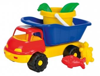 Sandspielzeug LKW mit Eimergarnitur 6-teilig Simba Bild 1