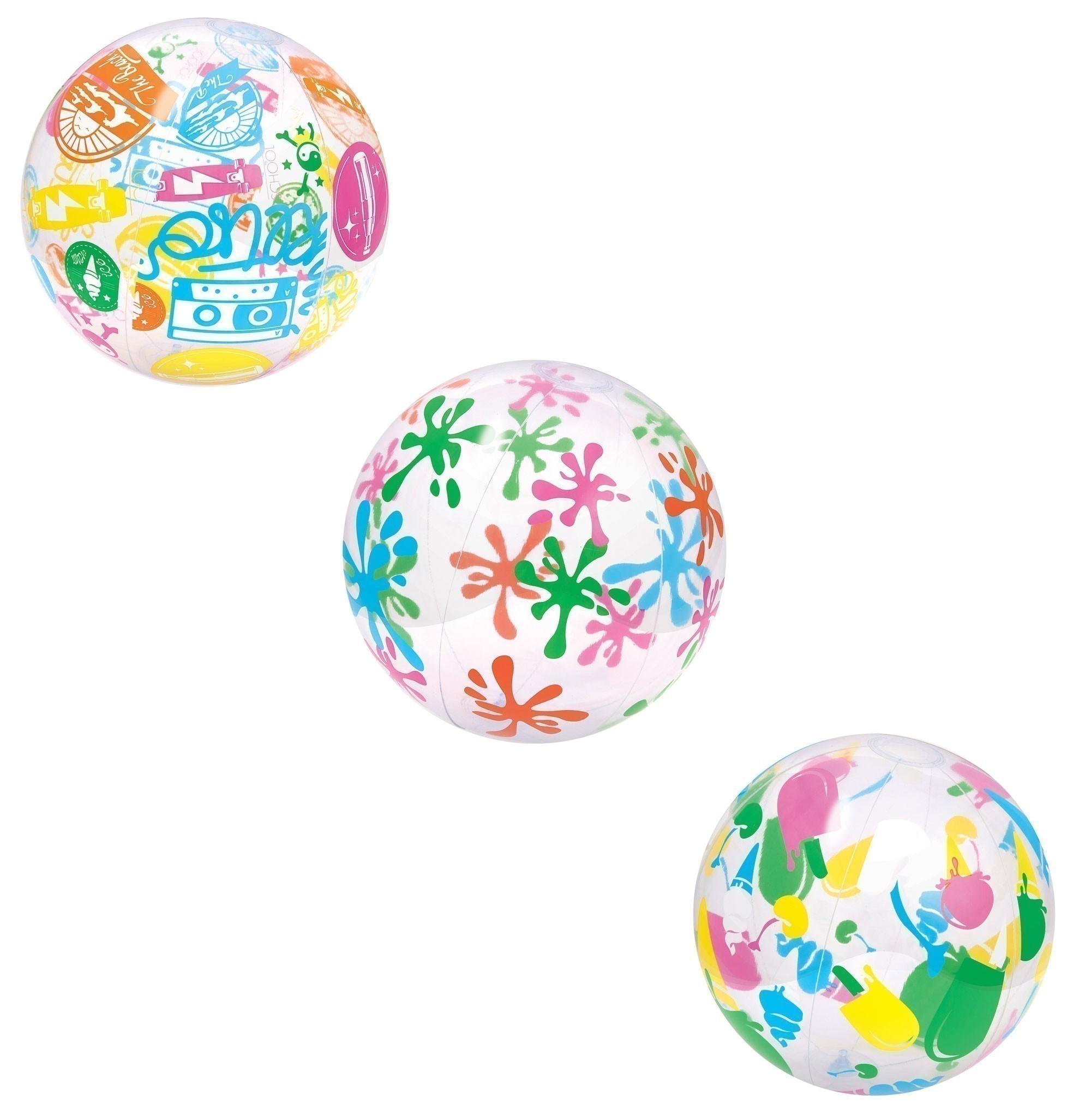 Wasserball / Strandball Bestway Designer Ø41cm Bild 4