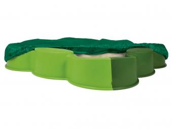 BIG Vario Sandkasten mit Abdeckplane 112x112cm grün Bild 1