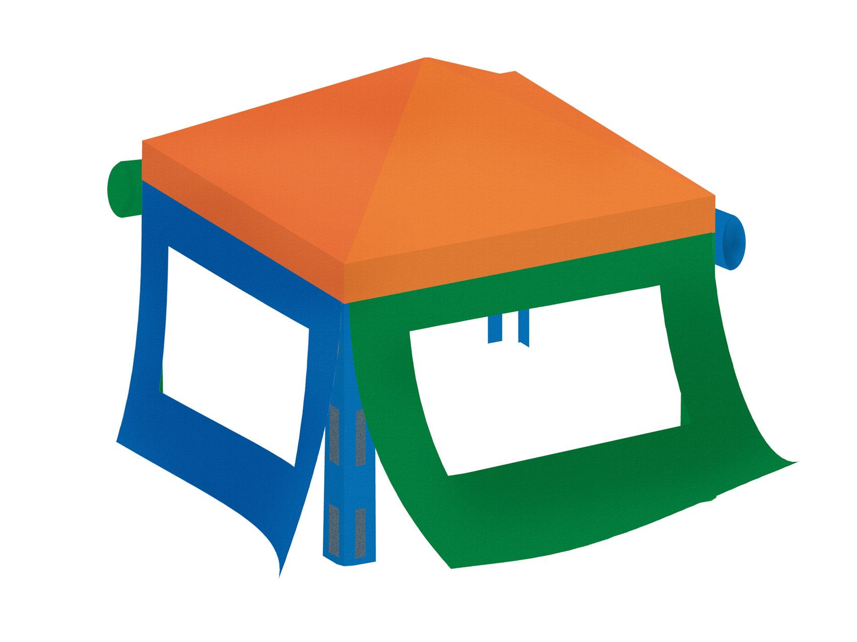 Sandkasten Mit Dach Absenkbar Kinder Metradirektde: BENJAMIN Seitenteile Und Dach Für Kinderpavillon BENJAMIN