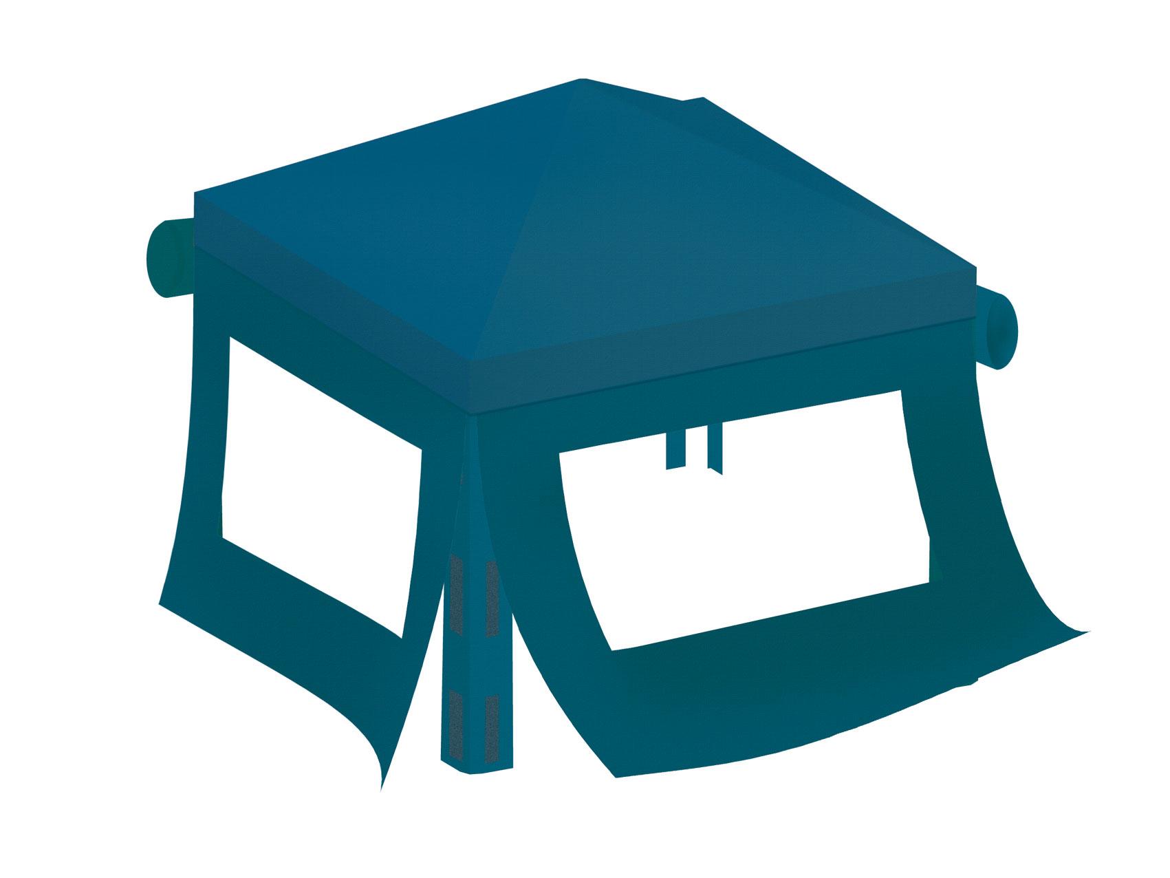 benjamin seitenteile und dach f r kinderpavillon benjamin blau bei. Black Bedroom Furniture Sets. Home Design Ideas