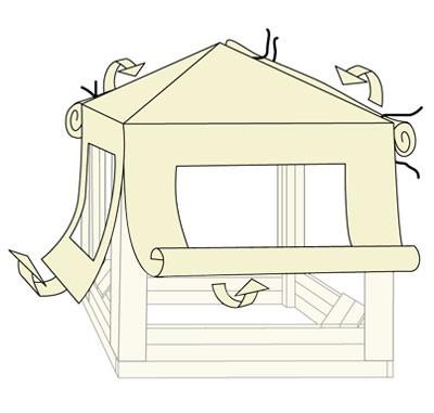 dach mit seitenteilen f r kinderpavillon sandkasten toni bunt bei. Black Bedroom Furniture Sets. Home Design Ideas