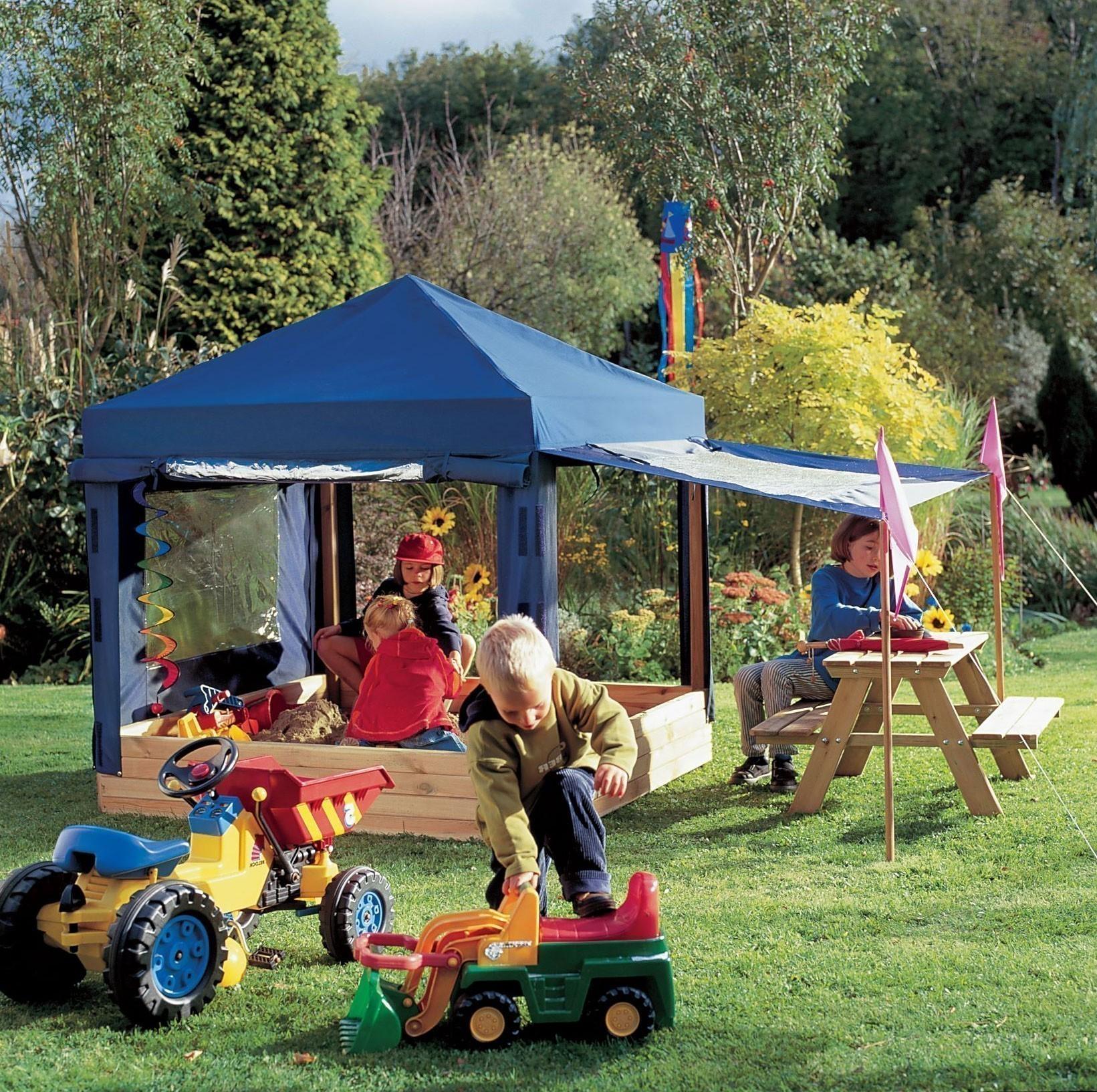 Sandkasten Mit Dach Absenkbar Kinder Metradirektde: Kinderpavillon / Sandkasten BENJAMIN Mit Dach
