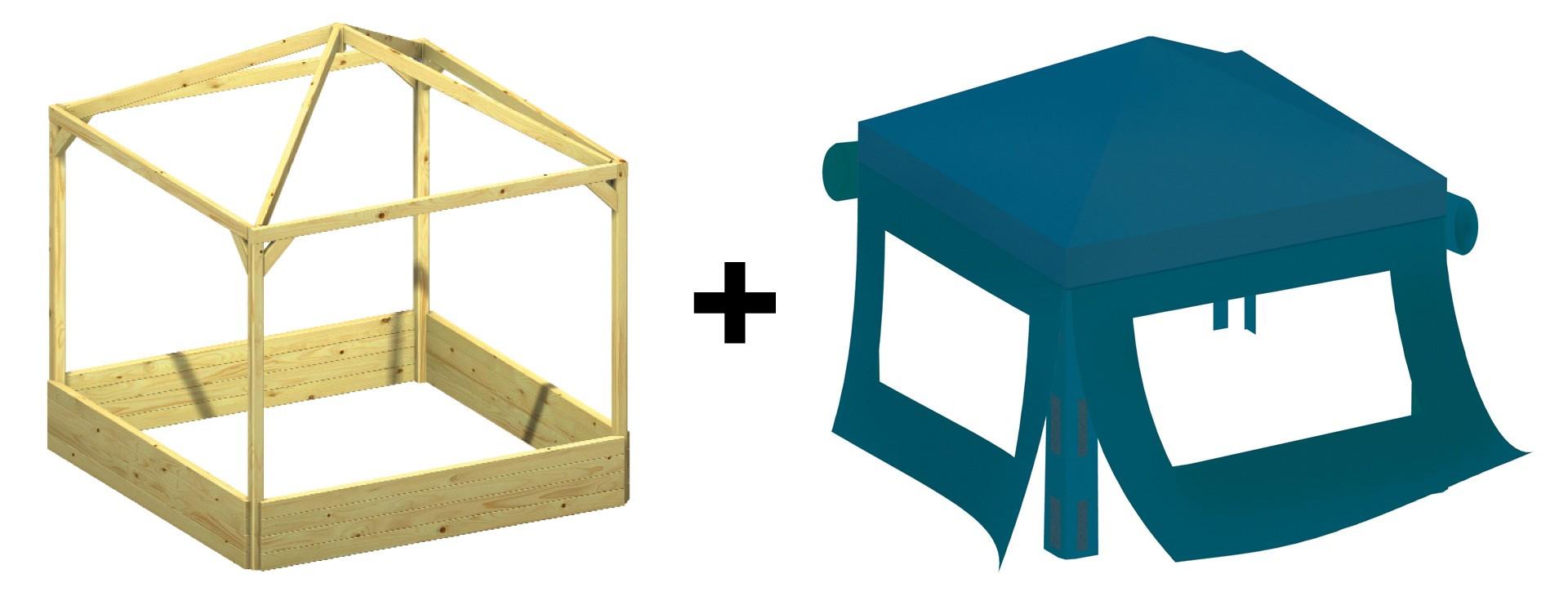 kinderpavillon sandkasten benjamin mit dach 164x164x180cm bei. Black Bedroom Furniture Sets. Home Design Ideas