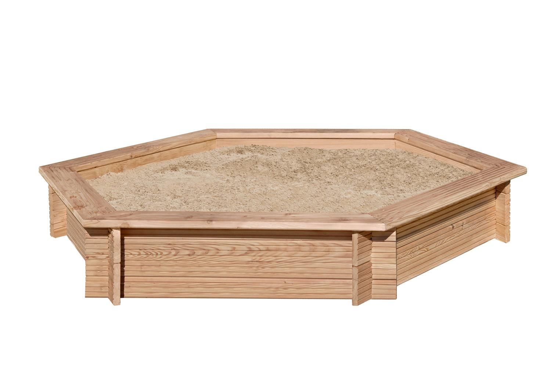 Sandkasten 6-Eck Ø230x30cm Lärchenholz Bild 1