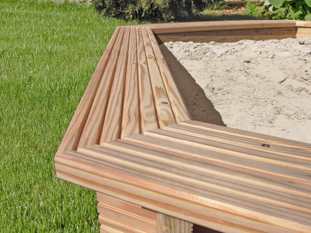 Sandkasten 6-Eck Ø230x30cm Lärchenholz Bild 3