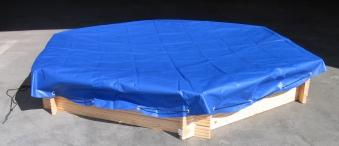 Sandkastenabdeckung / Abdeckplane für Sandkasten Ø230cm 6-Eck blau