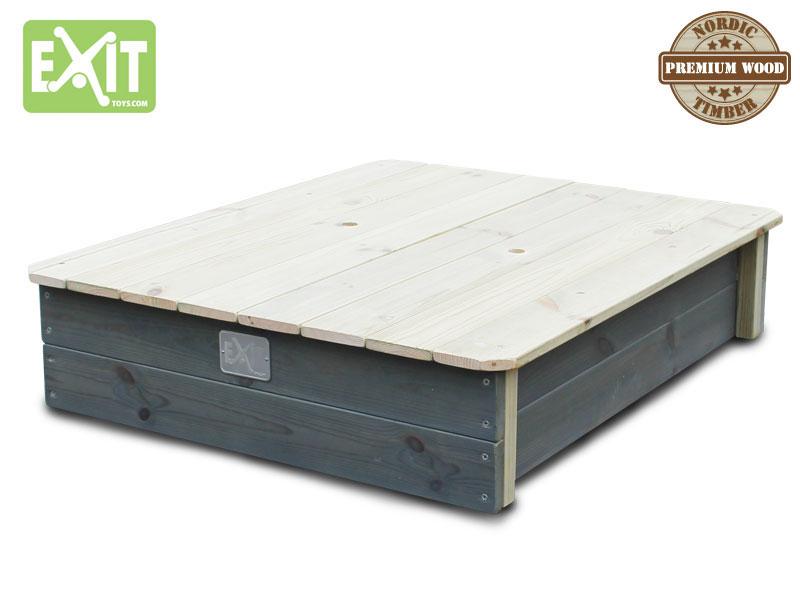 sandkasten exit aksent sandkasten holz natur grau 77x94cm. Black Bedroom Furniture Sets. Home Design Ideas