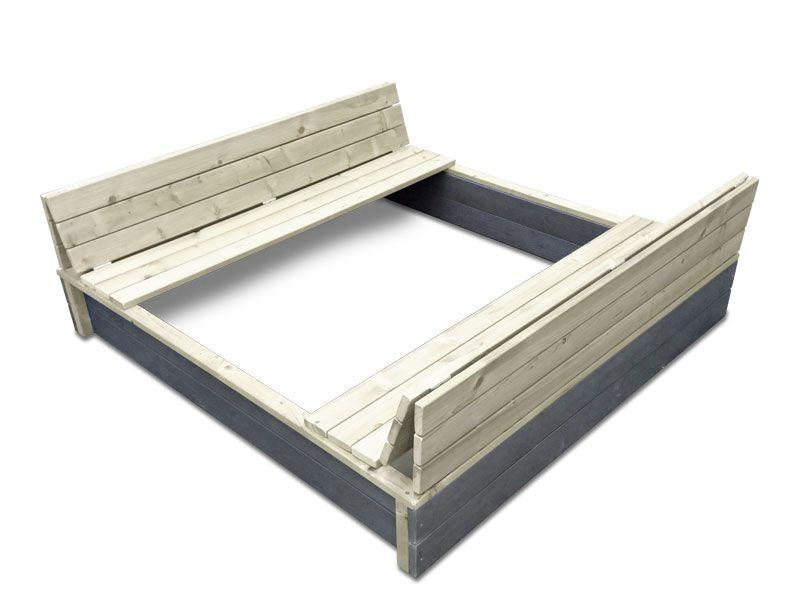 sandkasten exit aksent sandkasten xl holz natur grau. Black Bedroom Furniture Sets. Home Design Ideas