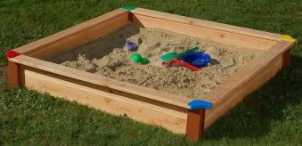Sandkasten Natur 150x150cm Douglasie Bild 1