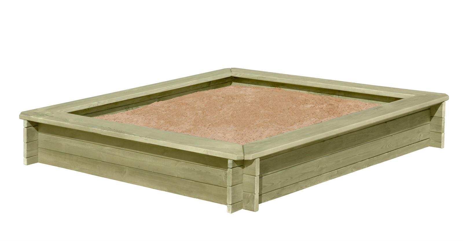 Sandkasten Stabil 180x180x30cm Bild 1
