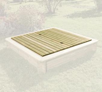 Holzabdeckung für Sandkasten 158x157x4cm