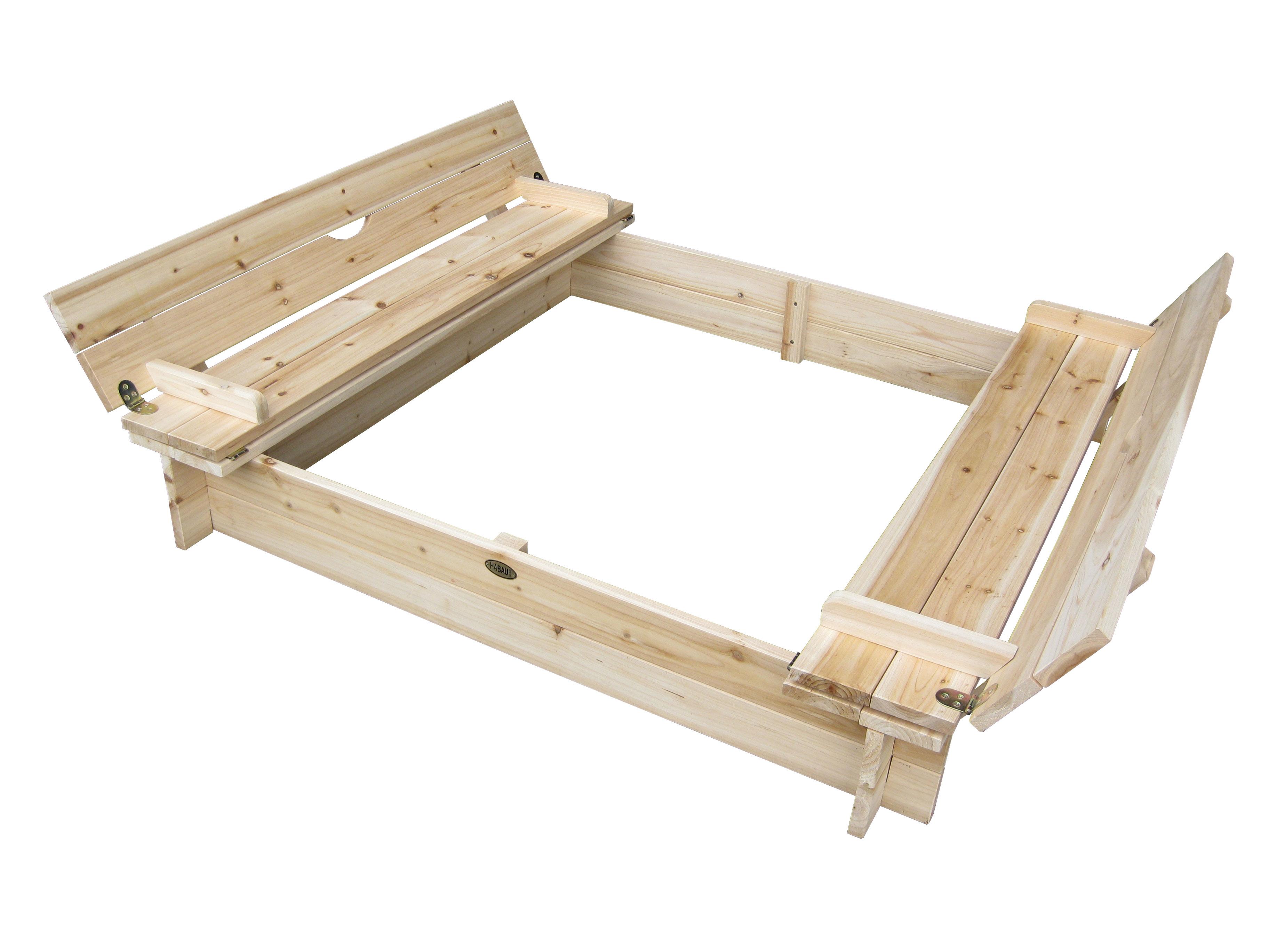 sandkasten mit deckel bank ca 120 x 120 x 20 cm bei. Black Bedroom Furniture Sets. Home Design Ideas