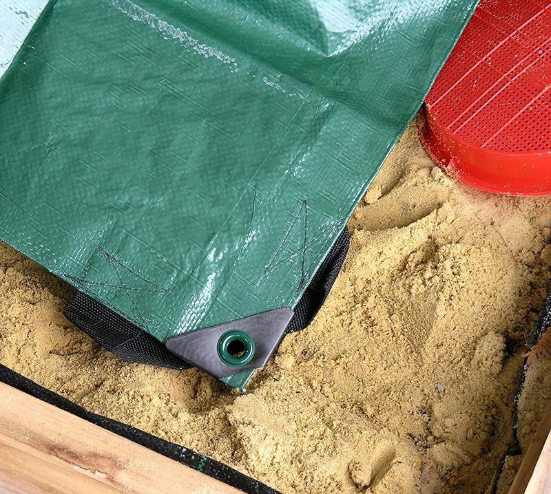 Sandkastenabdeckung / Abdeckplane Noor für Sandkasten 150x150cm Bild 1