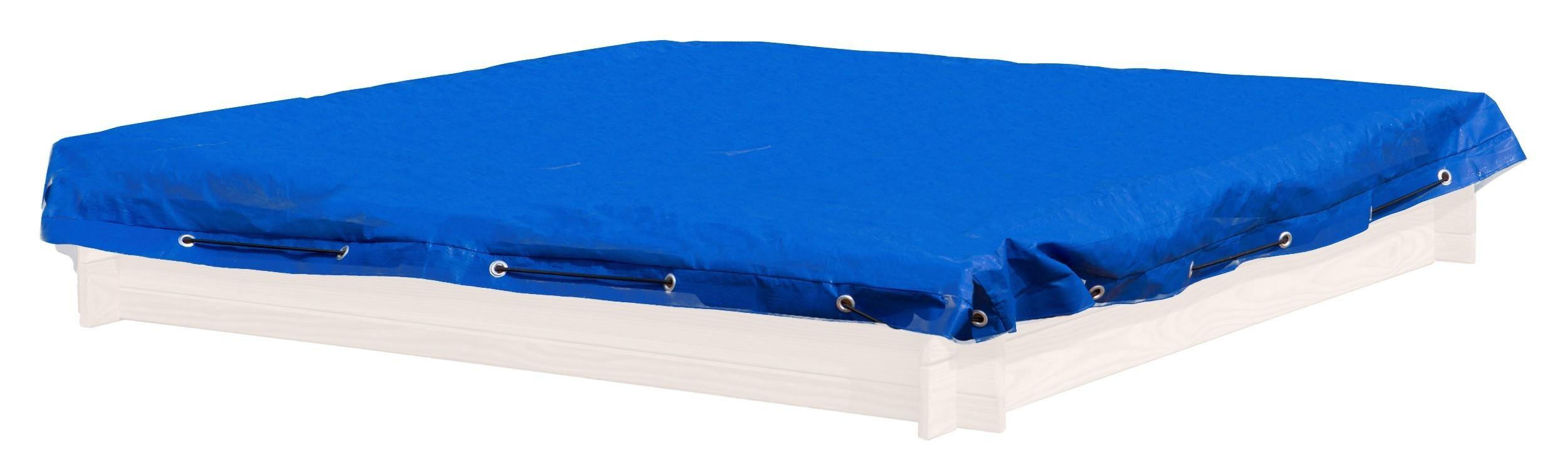 Sandkastenabdeckung / Abdeckplane für Sandkasten 150x150cm blau Bild 1