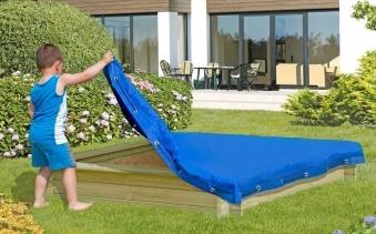 Sandkastenabdeckung / Abdeckplane für Sandkasten 150x150cm blau Bild 2