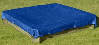 sandkastenabdeckung abdeckplane f r sandkasten 180x180cm blau bei. Black Bedroom Furniture Sets. Home Design Ideas