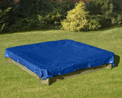 sandkastenabdeckung abdeckplane f r sandkasten blau 120x120cm bei. Black Bedroom Furniture Sets. Home Design Ideas