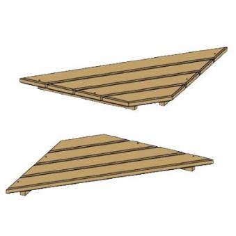 Sitzecke für Sandkasten / Kinderpavillon BENJAMIN / MORITZ Bild 1