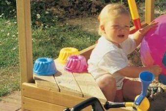 Sitzecke für Sandkasten / Kinderpavillon BENJAMIN / MORITZ Bild 2