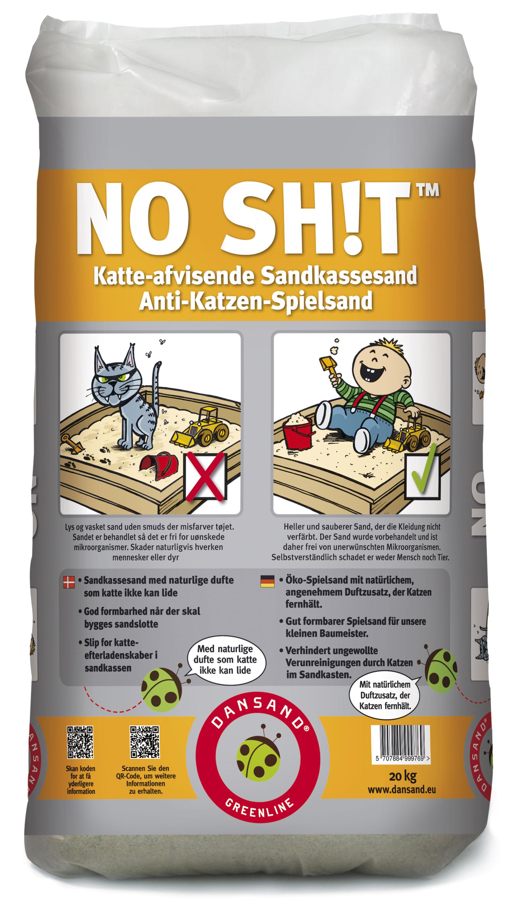 Spielsand NO SHIT  Anti-Katzen-Spielsand Dansand 20 kg Bild 1